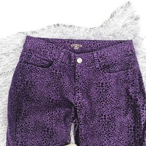 Riders By Lee Women's 14P Leopard Purple Mid Jeans